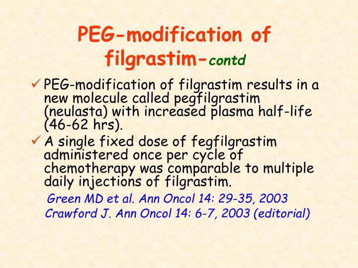 PEG-modification of filgrastim-
