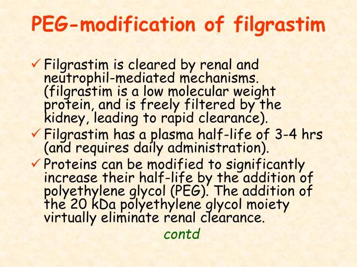 PEG-modification of filgrastim