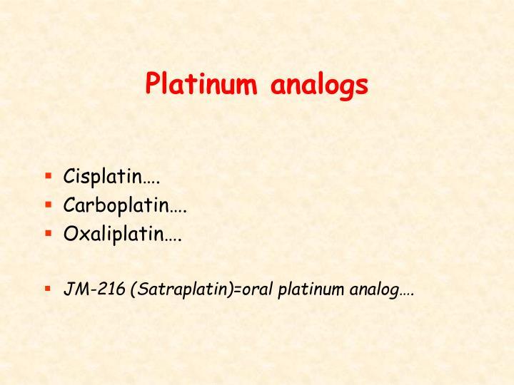 Platinum analogs