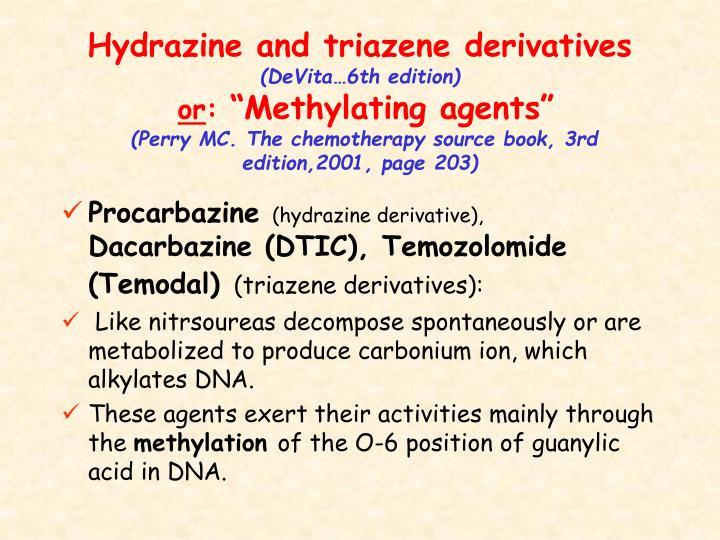 Hydrazine and triazene derivatives