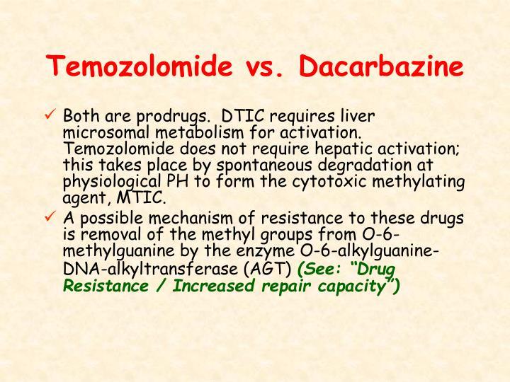 Temozolomide vs. Dacarbazine