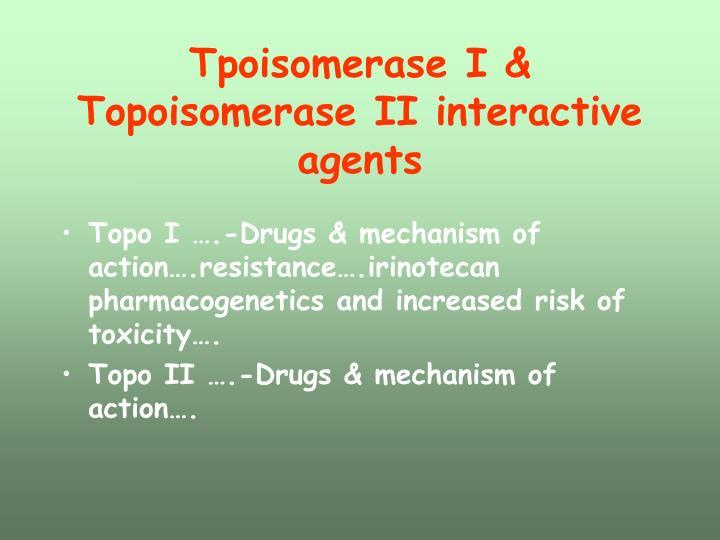 Tpoisomerase I & Topoisomerase II interactive agents