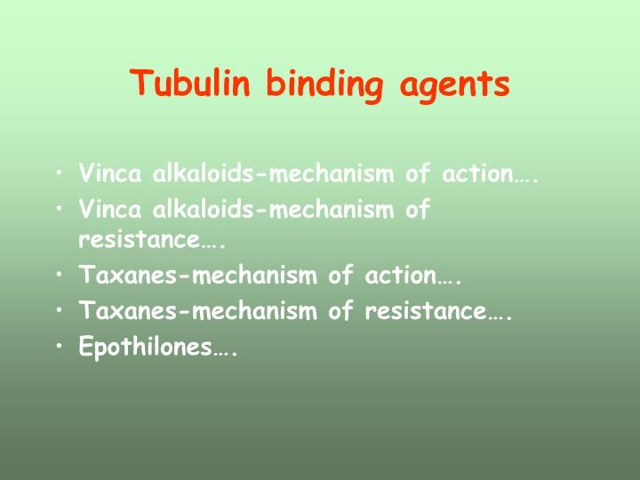 Tubulin binding agents