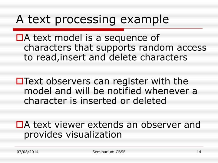 A text processing example