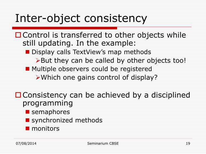 Inter-object consistency