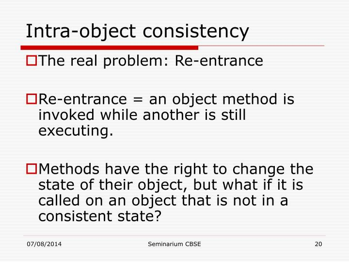 Intra-object consistency