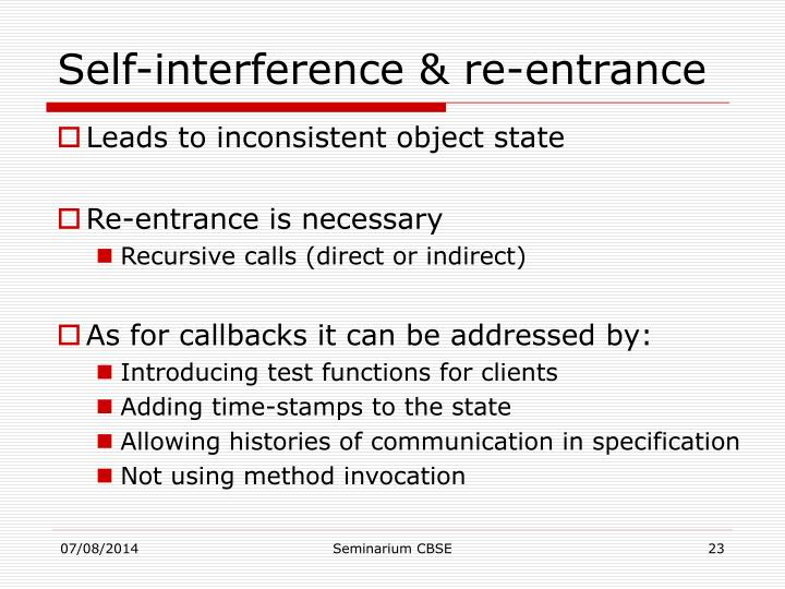 Self-interference & re-entrance