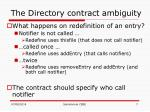 the directory contract ambiguity