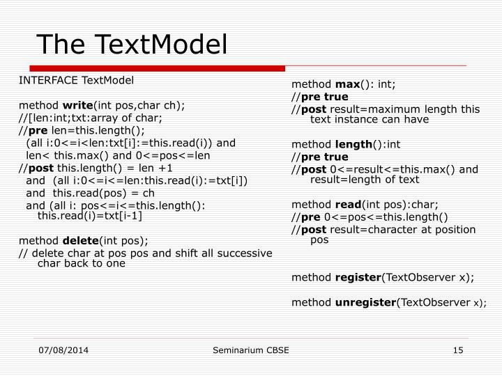 INTERFACE TextModel