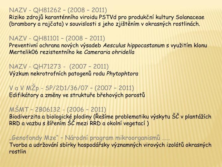 NAZV - QH81262 – (2008 – 2011)