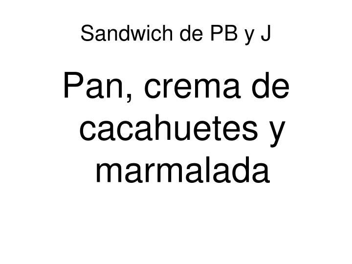 Sandwich de PB y J
