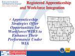 registered apprenticeship and workforce integration