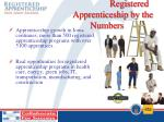 registered apprenticeship by the numbers1