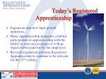 today s registered apprenticeship