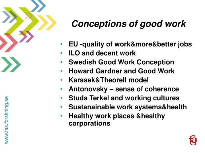 Conceptions of good work