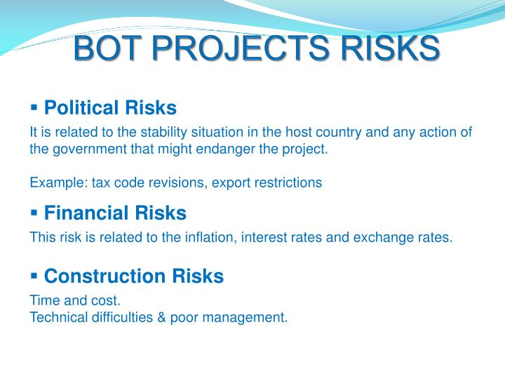 BOT PROJECTS RISKS