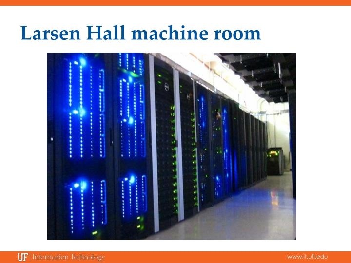 Larsen Hall machine room