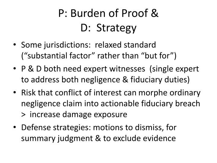 P: Burden of Proof &