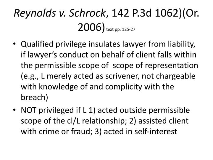 Reynolds v. Schrock