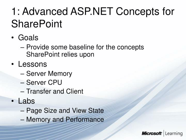 1: Advanced ASP.NET Concepts for SharePoint