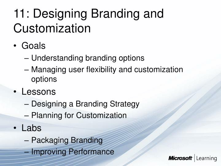 11: Designing Branding and Customization