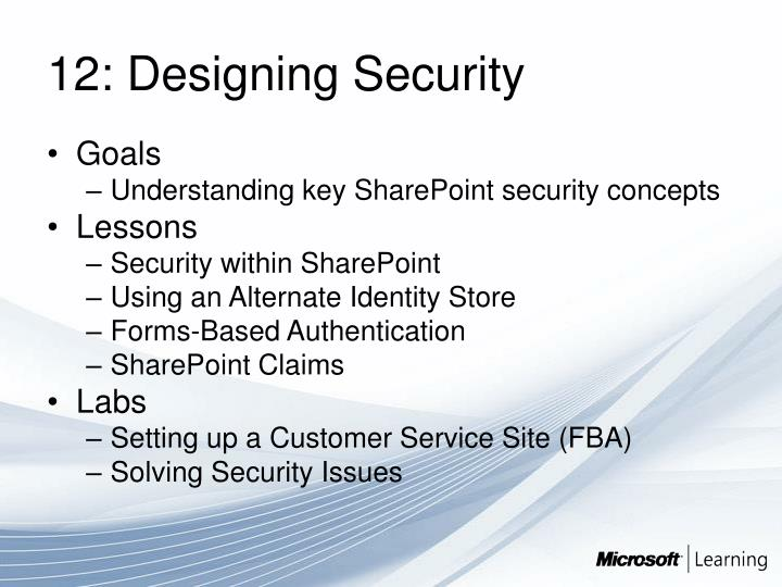 12: Designing Security