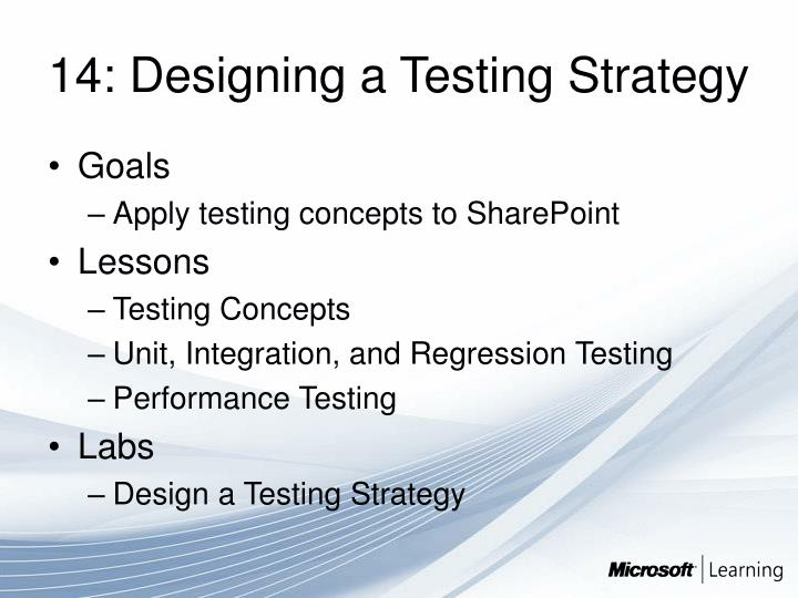 14: Designing a Testing Strategy
