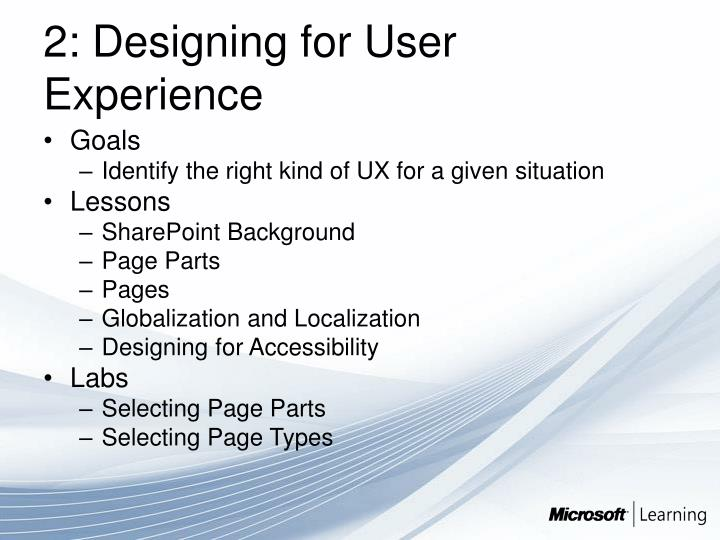 2: Designing for User Experience