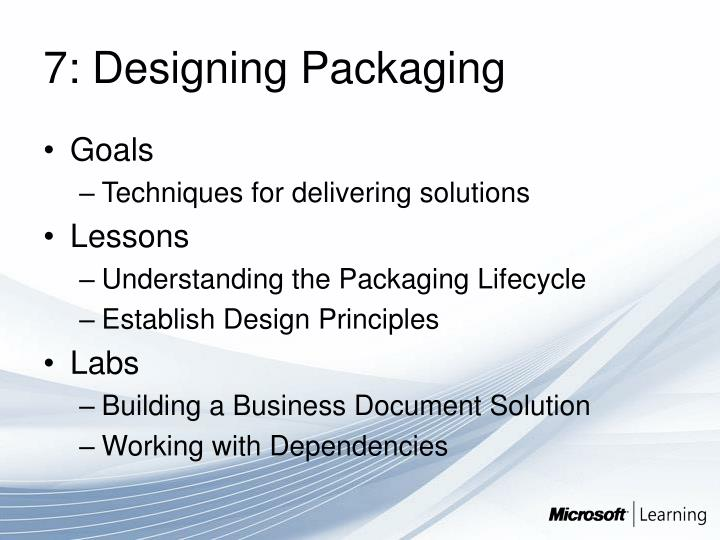 7: Designing Packaging
