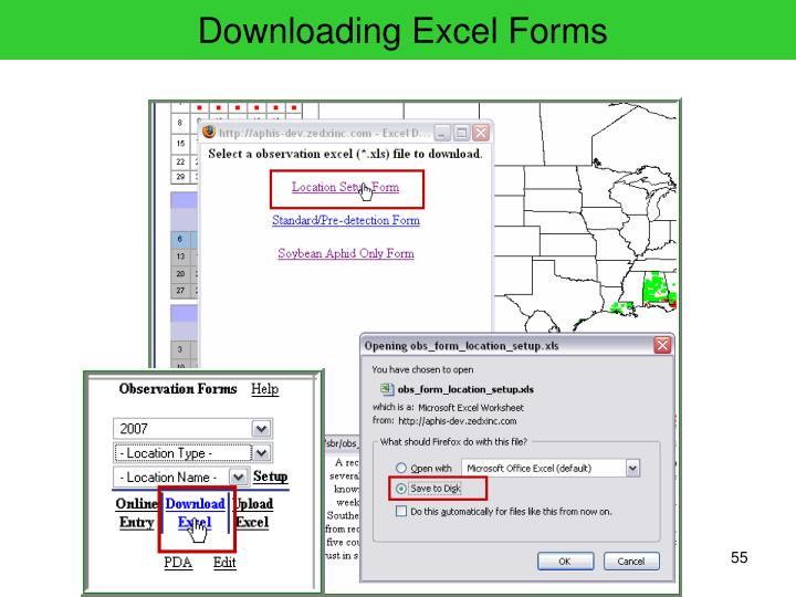 Downloading Excel Forms
