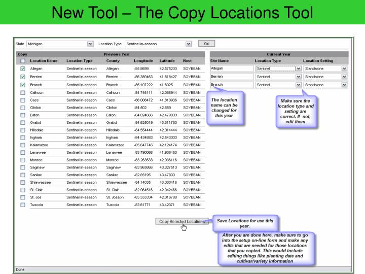 New Tool – The Copy Locations Tool