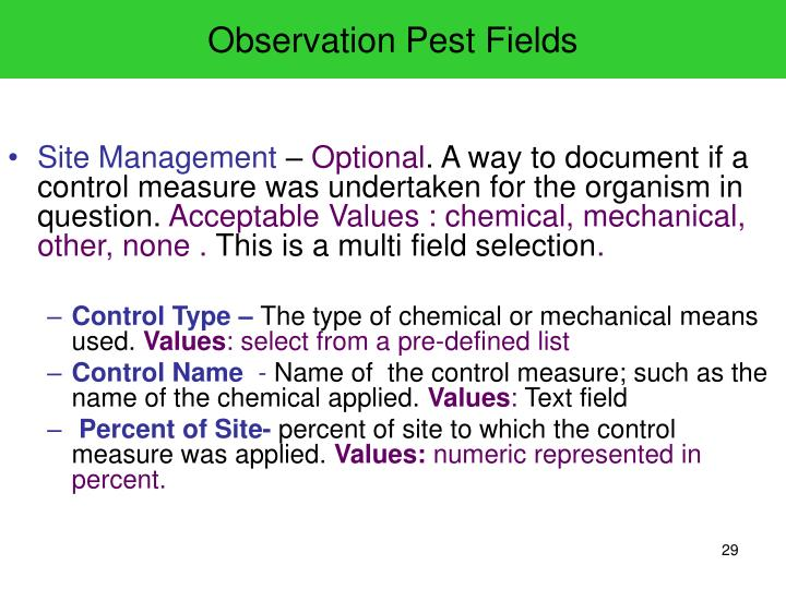 Observation Pest Fields