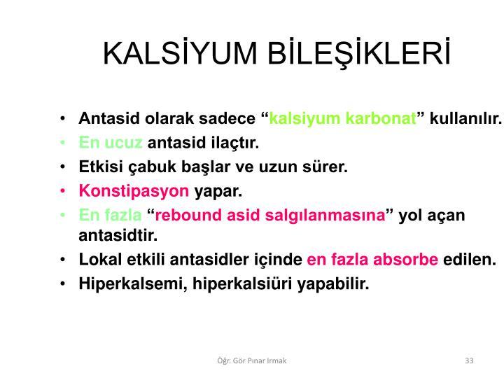 KALSYUM BLEKLER