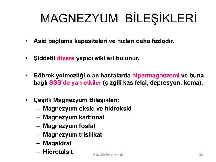 MAGNEZYUM  BLEKLER