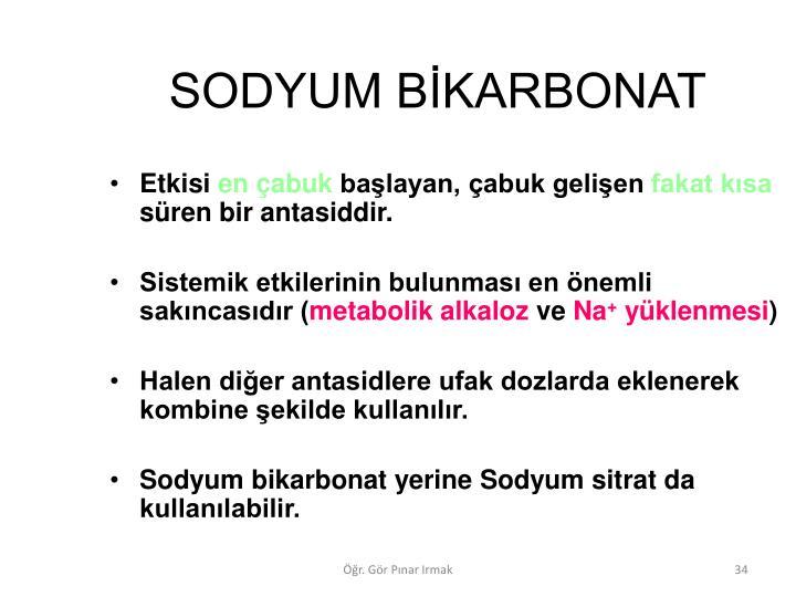 SODYUM BKARBONAT