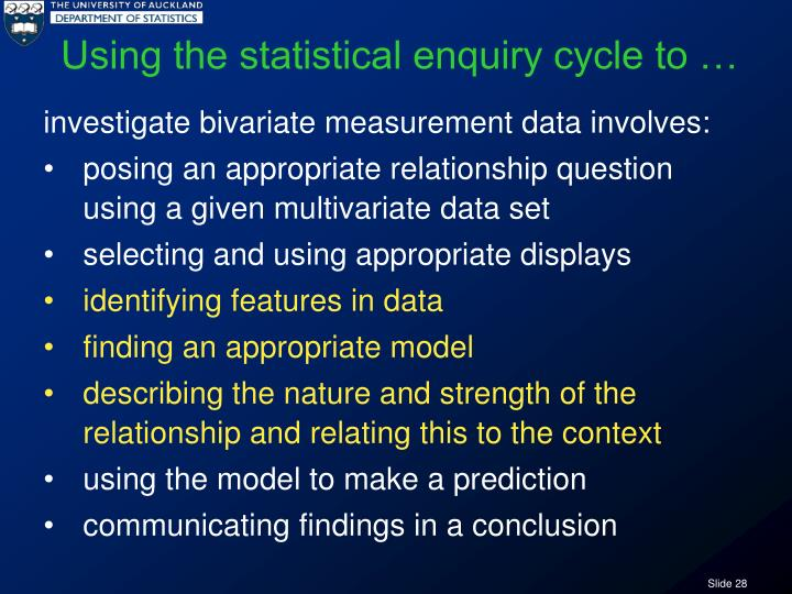 Using the statistical enquiry cycle to …