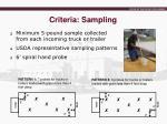 criteria sampling