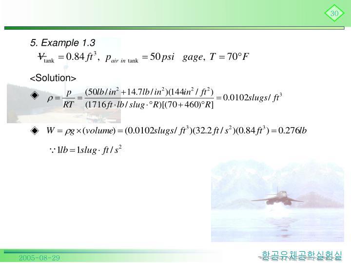 5. Example 1.3