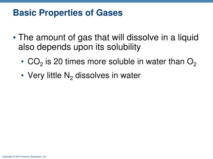 Basic Properties of Gases