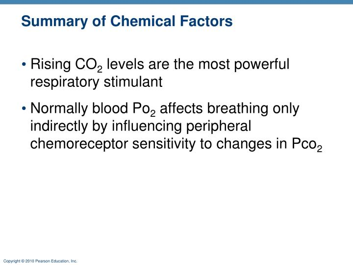 Summary of Chemical Factors