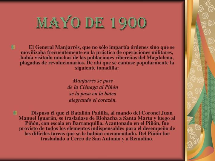 Mayo de 1900