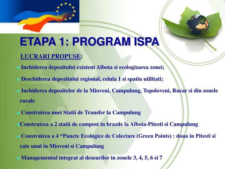 ETAPA 1: PROGRAM ISPA