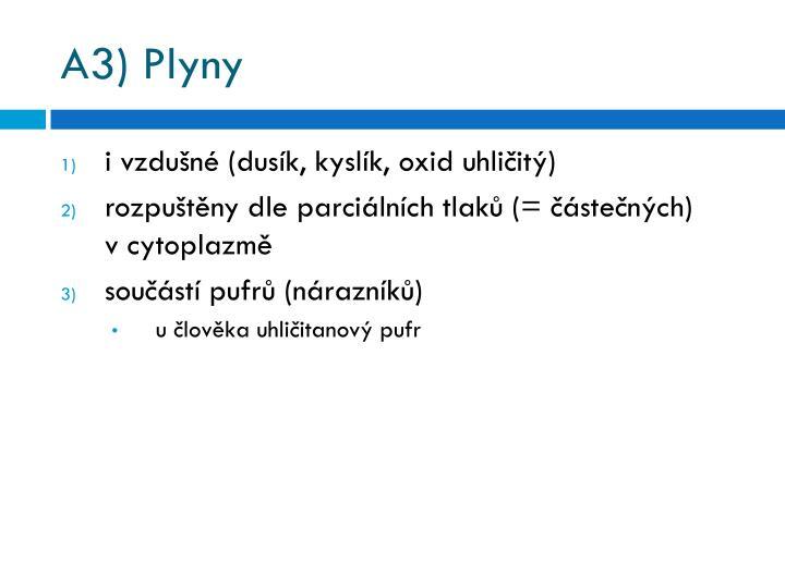 A3) Plyny
