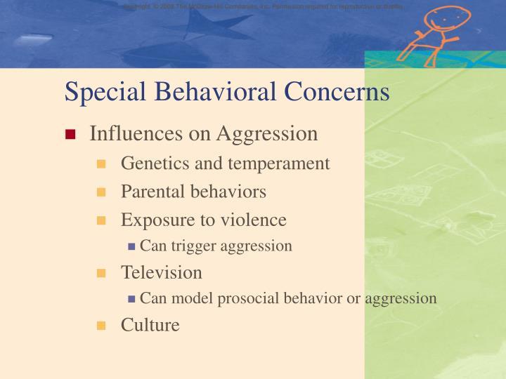 Special Behavioral Concerns