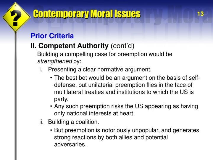 Prior Criteria
