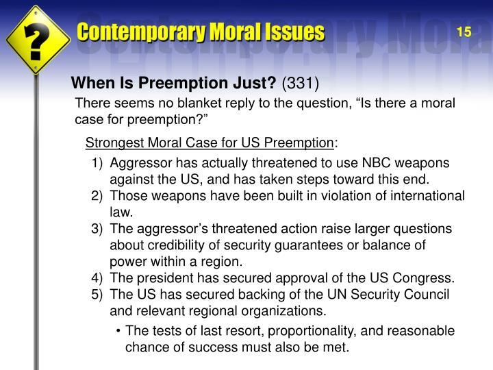 When Is Preemption Just?