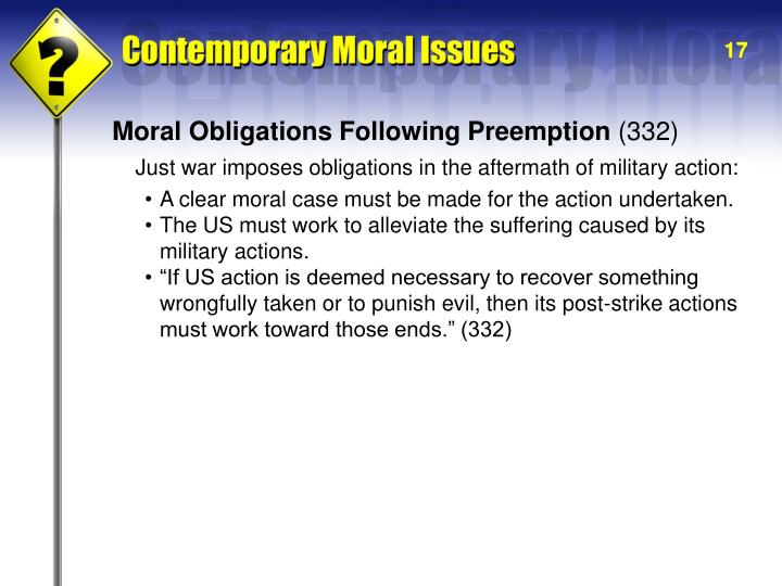 Moral Obligations Following Preemption