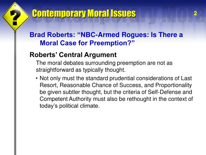 "Brad Roberts: ""NBC-Armed Rogues: Is There a"