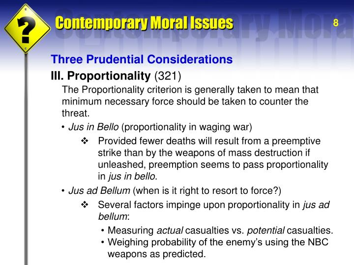 Three Prudential Considerations