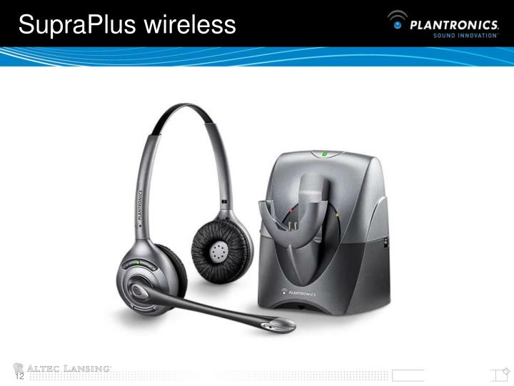 SupraPlus wireless